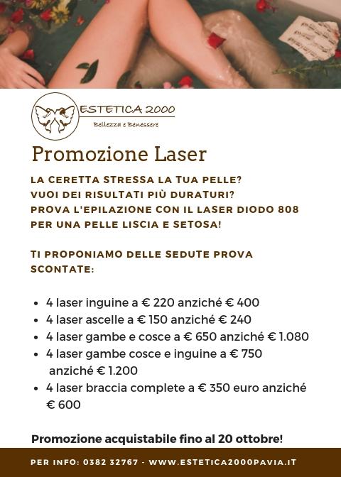 promozione laser estetica 2000 pavia